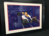 Williams FW14B Artwork print, signed by Nigel Mansell CBE