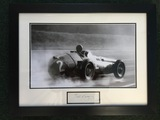 J M Fangio 'Maserati 250F In The Wet' signed production