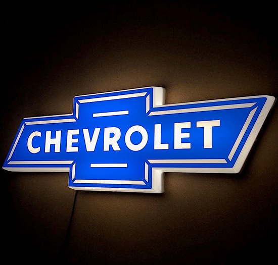 Chevrolet illuminated wall sign