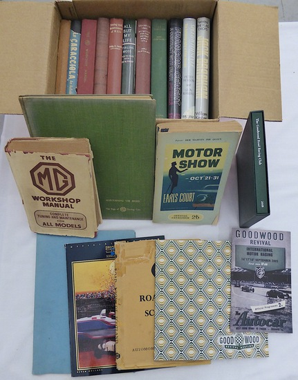 A collection of motoring publications