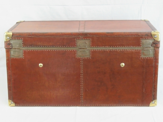 A rare and superb vintage continental car trunk