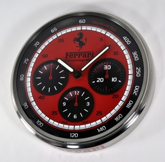 Scuderia by Panerai red dial dealers clock