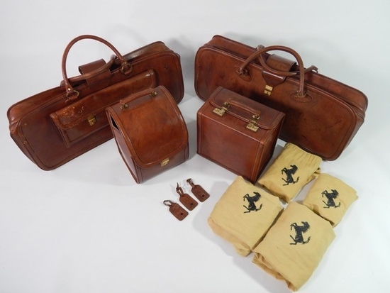 Original Ferrari 308 328 4-piece complete Schedoni leather luggage set