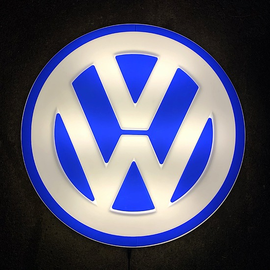 Volkswagen illuminated wall sign