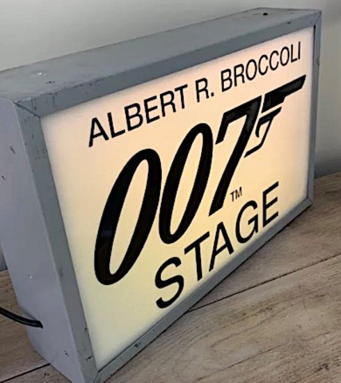 Original 007 illuminated studio sign