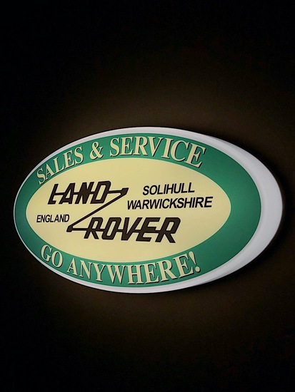 Land Rover illuminated wall sign