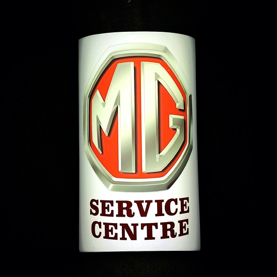 MG Service Centre illuminated wall sign