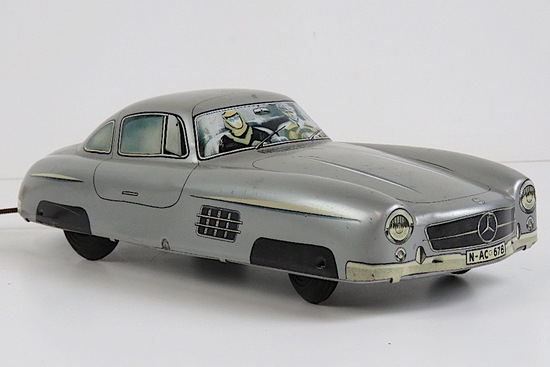 An 'Arnold' Mercedes-Benz 300SL tin-plate toy car