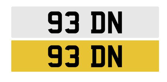 Registration number 93 DN