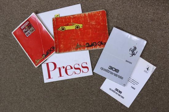 Ferrari original handbooks and press pack