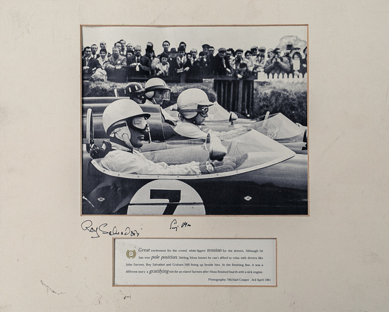 Signed, mounted photograph