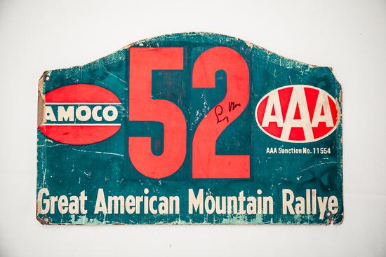 Signed rally plate - Great American Mountain Rallye