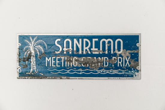 1951 SanRemo  Grand Prix Plate