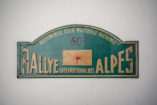 Signed rally plate - Rallye International des Alpes