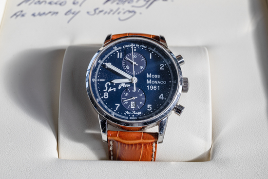 Wrist watch Formerly the property of Stirling Moss