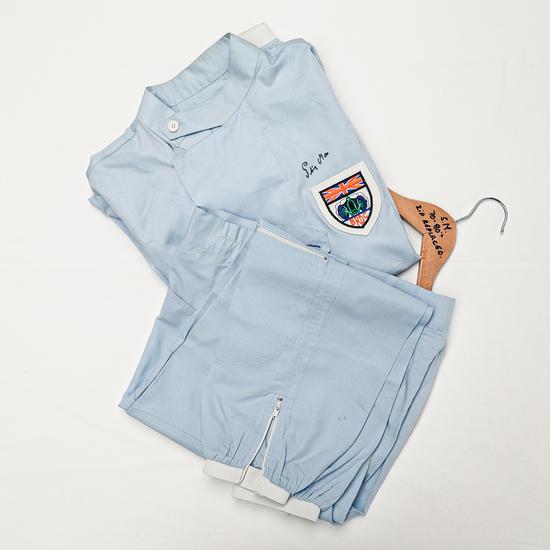Stirling Moss designed race worn race suit 1980-90's