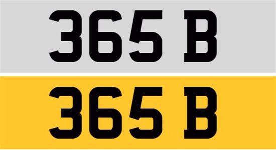 Registration Number 365 B