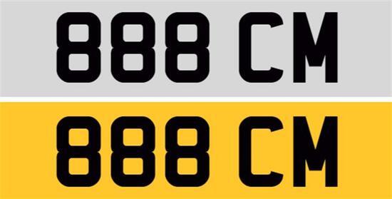 Registration Number 888 CM