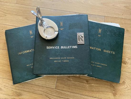 Rolls-Royce and Bentley Maintenance Books, 'Silver Lady' Ashtray and Badge*