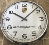 White-Faced Porsche Wall Clock