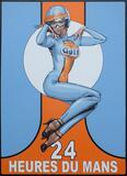 Gulf Racing - Original Acrylic on Board by Tony Upson