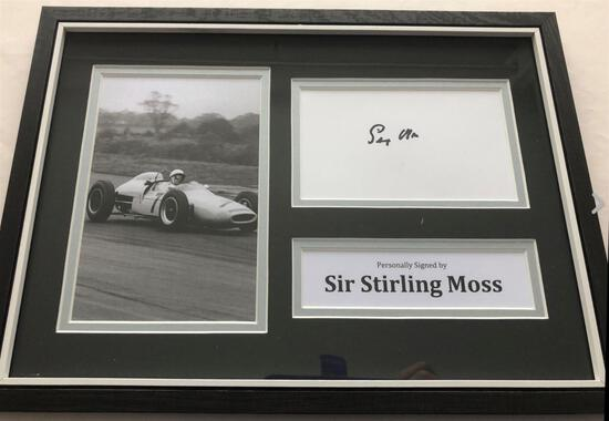 Signed Stirling Moss Production