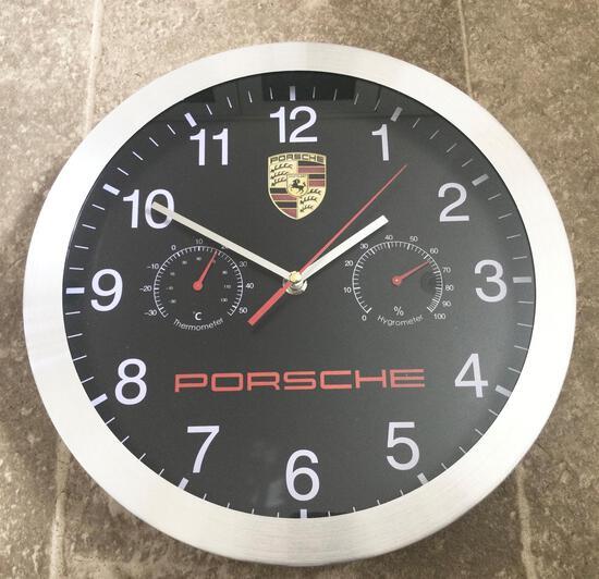 Black-Faced Porsche Wall Clock