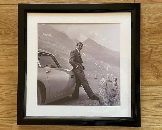 Sean Connery's James Bond with Aston Martin DB5*