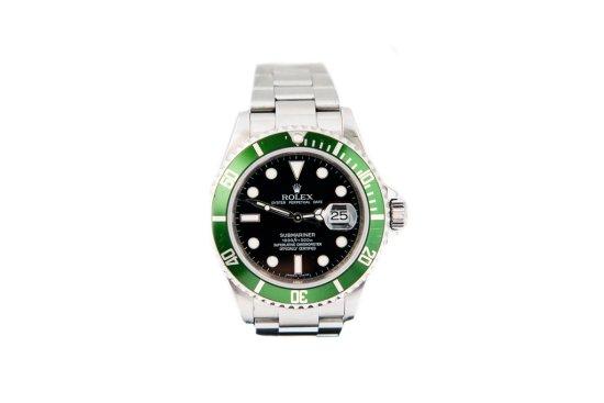 2008 Rolex Submariner 16610LV Green Bezel 50th Anniversary