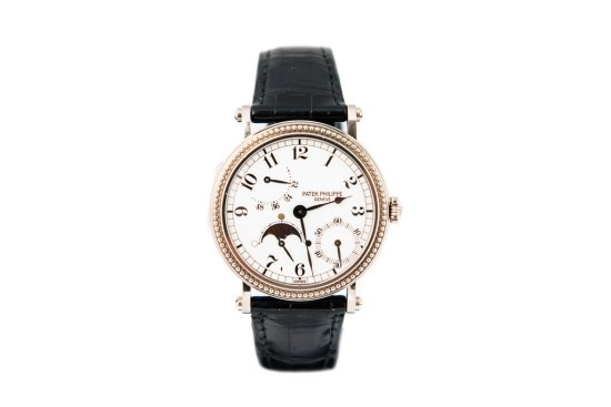 1995 Patek Philippe 5015 18ct White Gold Moon Phase and Power Reserve