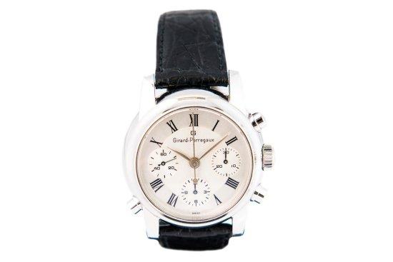 c.2005 Girard Perregaux Platinum Rattrapante chronograph, ref. 9010
