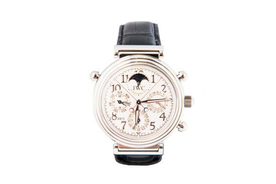 2005 IWC. DaVinci Limited Edition No.043/500 Perpetual Calender in Platinum with Box and Paperwork