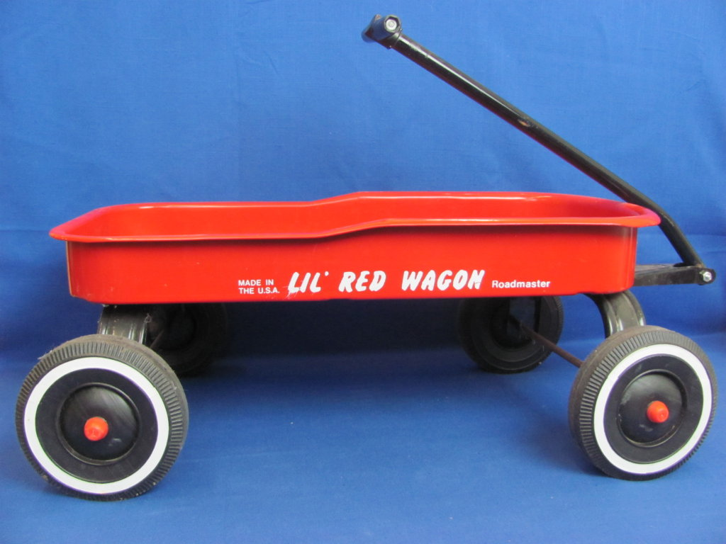 Roadmaster Lil Red Wagon Made In Usa Body Is 20 1 2 Long Art Antiques Collectibles Toys Hobbies Classic Toys Online Auctions Proxibid