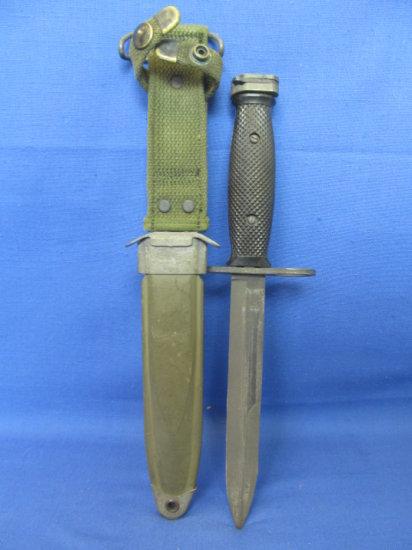 US M8AI  PWH M-7 Bayonet – BOC – Vietnam Era – Knife & Sheath