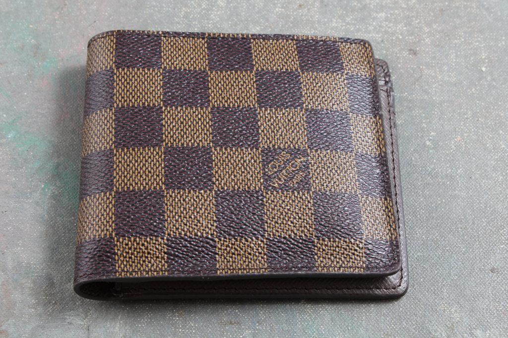 Vintage Louis Vuitton Men's Wallet Malletier A Paris Made in France UNUSED