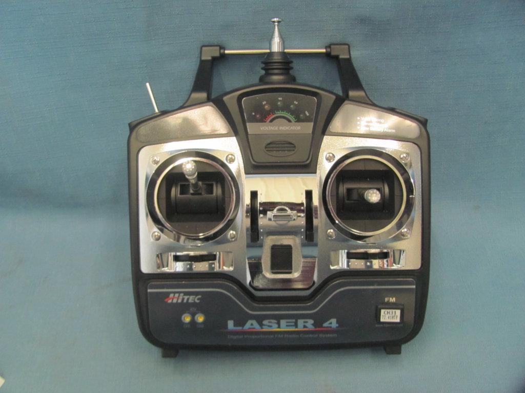 Lot: HiTec Laser 4 Digital Proportional FM Radio Control System