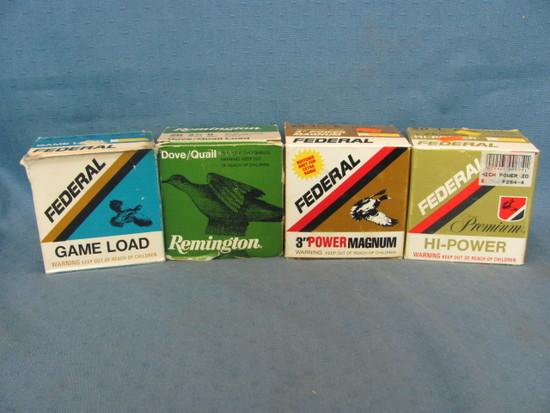 Remington & Federal 20 Gauge Shotgun Shells – Full Boxes (4