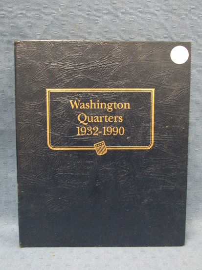 Washington Quarter Book – 120 Coins(holds 154) – 1932-1990 – As shown – Did not verify if each coin