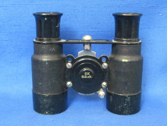 """Small Pair of Vintage Binoculars – Marked 6X – 3 1/4"""" long – 1 Lens has some scratching or condensat"""