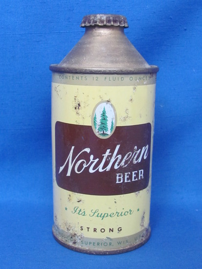 "Steel Cone Top Beer Can ""Northern Beer"" - Superior, Wisconsin ""It's Superior"""