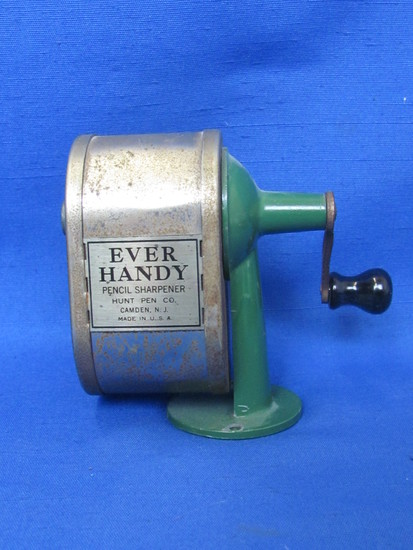 """""""Ever Handy"""" Desk Mount Pencil sharpener by Hunt Pen Co. Made in USA – 3 5/8"""" tall"""