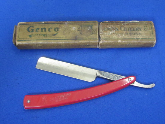 """""""Red Imp"""" Straight Razor with Genco Case – Marked """"Made in USA by Case"""""""