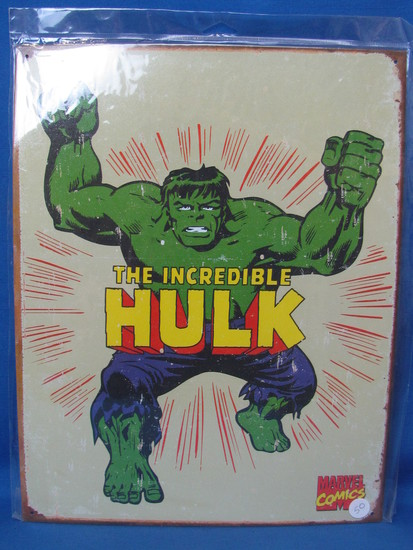"""New Metal/Tin Sign """"The Incredible Hulk"""" - 16"""" x 12 1/2"""" - In sealed package"""