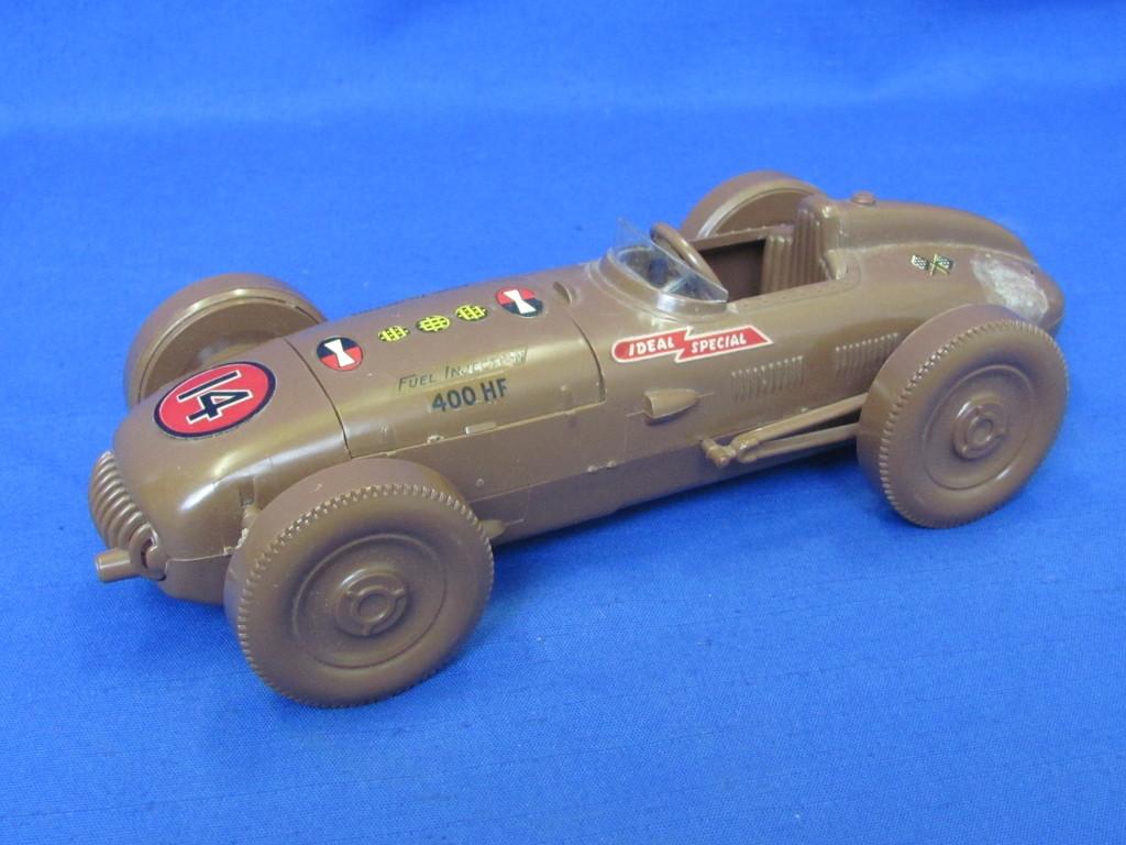 "Vintage Ideal Plastic Model Race Car ""Ideal Special""  8 1/2"" long – Couple spots of damage"