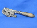 Trimo Pipe Wrench No. 10 – Patent Date 1916 – Made in Roxbury, Mass. - Wood Handle
