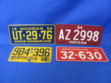 1950's Wheaties Cereal Premium Miniature Bicycle License Plates (4)