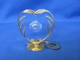 Australian Crystal – 24K Gold Plated Heart Shaped Stand
