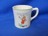 1930's Ovaltine Premium Little Orphan Annie & Sandy Ceramic Cup