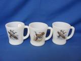 Fire King Game Bird Coffee Cups (3) – Canada Goose (2) & Mallard Duck