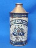 """Steel Cone Top Beer Can """"Royal Bohemian Beer"""" - Duluth, Minn."""